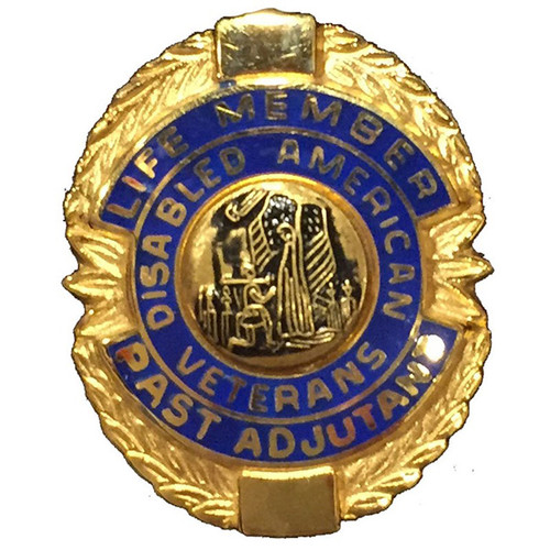 Blue Past Adjutant Life Member Officer Lapel Pin