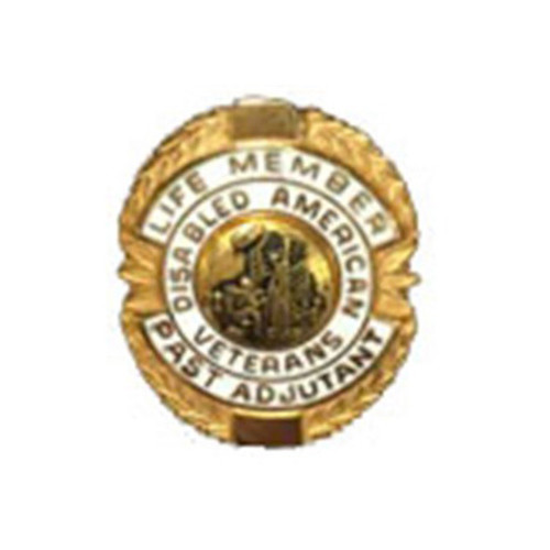 White Past Adjutant Life Member Officer Lapel Pin