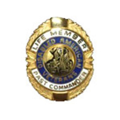 Blue/White Past Commander Life Member Officer Lapel Pin