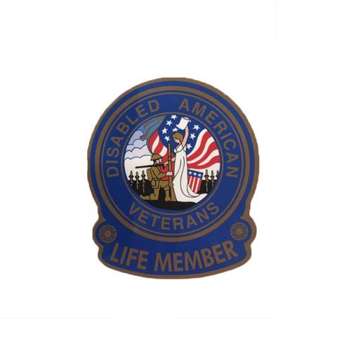 """3.5"""" Life Member Gold Mylar Emblem"""
