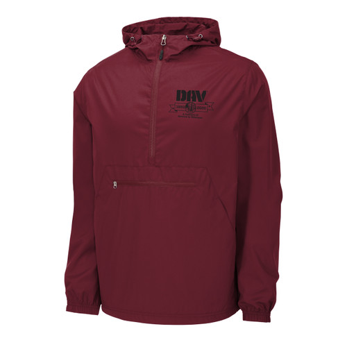 Packable Anorak Jacket / Burgundy