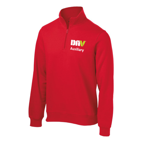 Unisex Value Fleece 1/4 Zip / Red