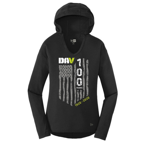 Ladies Tri-Blend Performance Hoodie / Black
