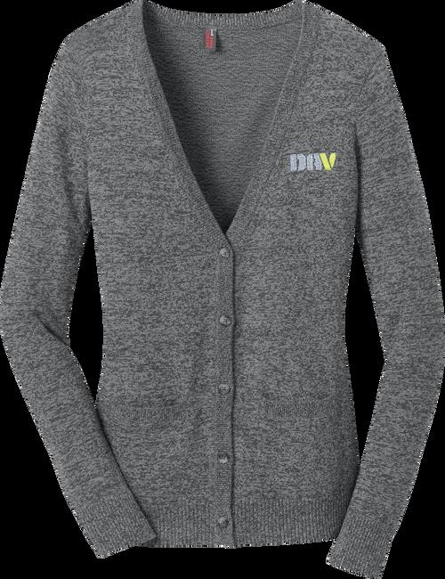 Ladies Marled Sweater / Grey