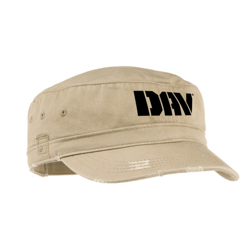 Distressed Military Style Hat