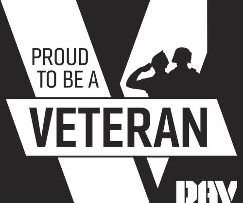 Proud Veteran Lapel Pin