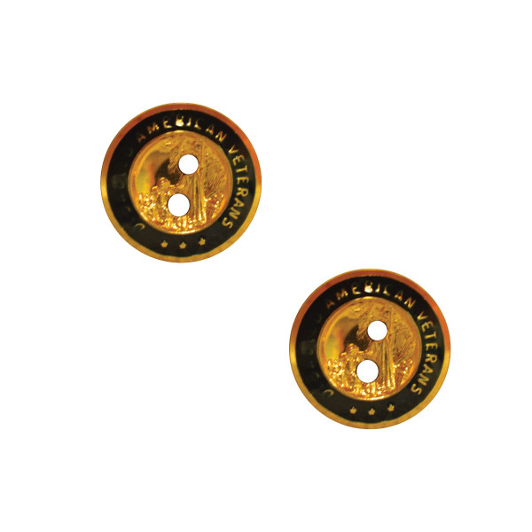 Small Uniform Button with Holes / 2 Pack