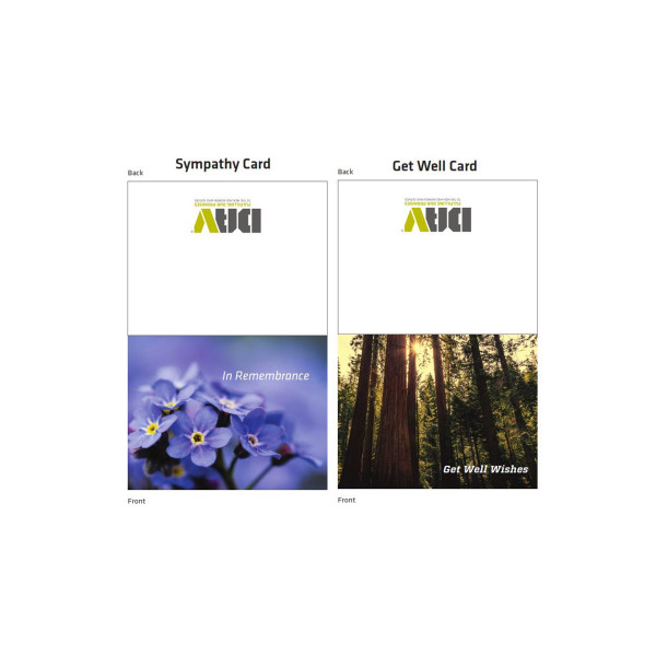DAV Get Well and Sympathy Card / 20 Pack