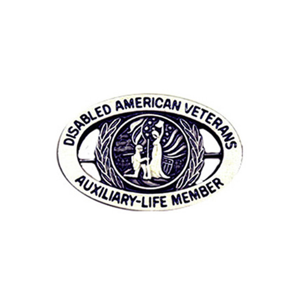 Pewter Life Member Pin - Auxiliary Pin