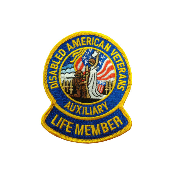 "3"" Auxiliary Life Member Embroidered Emblem"