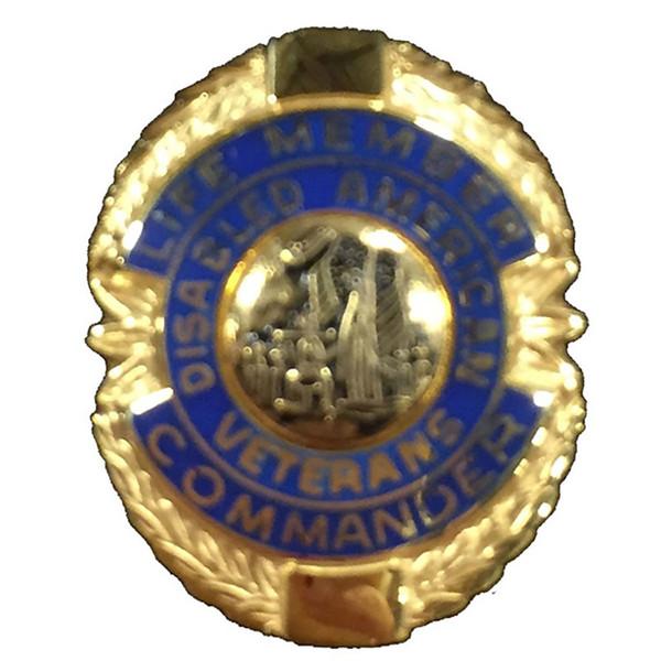 Blue Commander Life Member Officer Lapel Pin