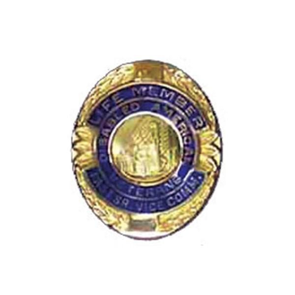 Blue Sr. Vice Commander Life Member Officer Lapel Pin