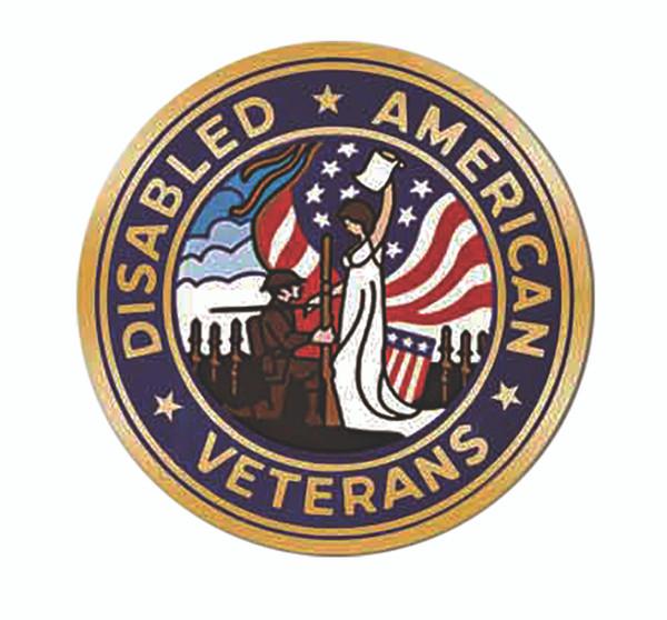 "DAV Seal Gold Mylar Emblem - 6"""