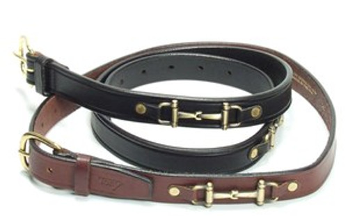 BELTS WITH 2 BRASS BITS