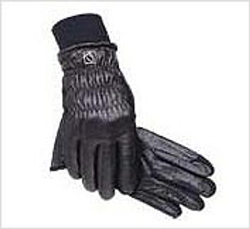 S-T-R-E-T-C-H  LEATHER WINTER GLOVES FOR MEN WOMEN CHILDREN, BLACK ONLY