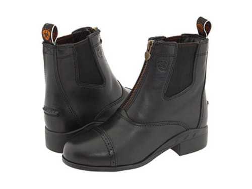 Children's Ariat Devon III Black Zip Front Boots