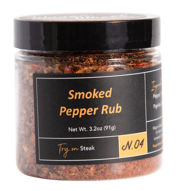 Select All	Image	Description	Use as Thumbnail?	Action Select	 Product image	  Smoked pepper rub is made with Apple wood Smoked pepper and Apple wood smoked Sea Salt blended together with paprika, garlic, and red pepper. The ideal steak rub for pepper lovers strong but not too over powering. Makes for a great addition to any type of grilling.  Ingredients- Smoked black pepper, Smoked sea salt, garlic, paprika, red pepper   Net Weight 1.8 oz   CancelSave	Use as thumbnail	 Options Select	 Product image	  Click here to add a description  CancelSave	Use as thumbnail	 Options Select	 Product image	  Smoked pepper rub is made with Apple wood Smoked pepper and Apple wood smoked Sea Salt blended together with paprika, garlic, and red pepper. The ideal steak rub for pepper lovers strong but not too over powering. Makes for a great addition to any type of grilling.  Ingredients- Smoked black pepper, Smoked sea salt, garlic, paprika, red pepper   Net Weight 1.8 oz