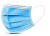Our 3 ply face mask (earloop)  showing the elastic stretch ear loop and adjustable embedded nose clip