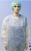 White Medical Gown Full Length Front View