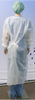 White Medical Gown Full Length Back View