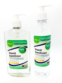 Two bottles of the Hand Sanitizer Ethyl Alcohol Liquid Pump Bottle displayed