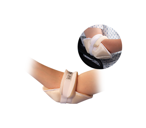 An elbow display in the Elbowlift® Suspension Pad protecting the sensitive skin from friction