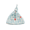 Nature Baby Knotted Beanie - Lucky Heart Print