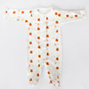 baby essentials organic-essentials-footed-romper-happy-snail-print/