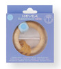 Hevea blue rubberwood rattle and teether