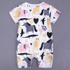 bamboo cotton printed romper