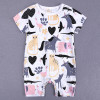 Bamboo Cotton Baby Romper Printed - Pink