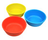 re-play 3 pack bowls sky blue red & yellow