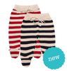nature baby stripe footed pant