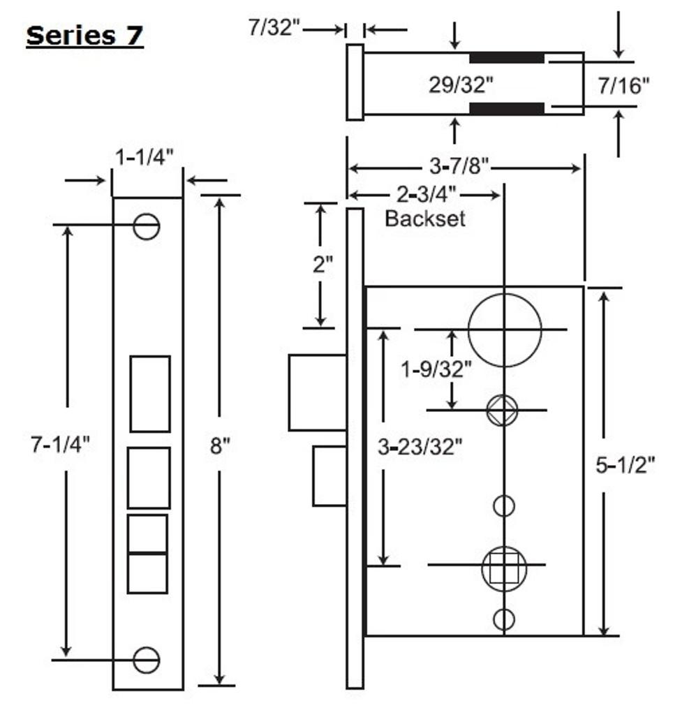 Marks USA New Yorker Grade 1 Mortise Lockset 7NY10A