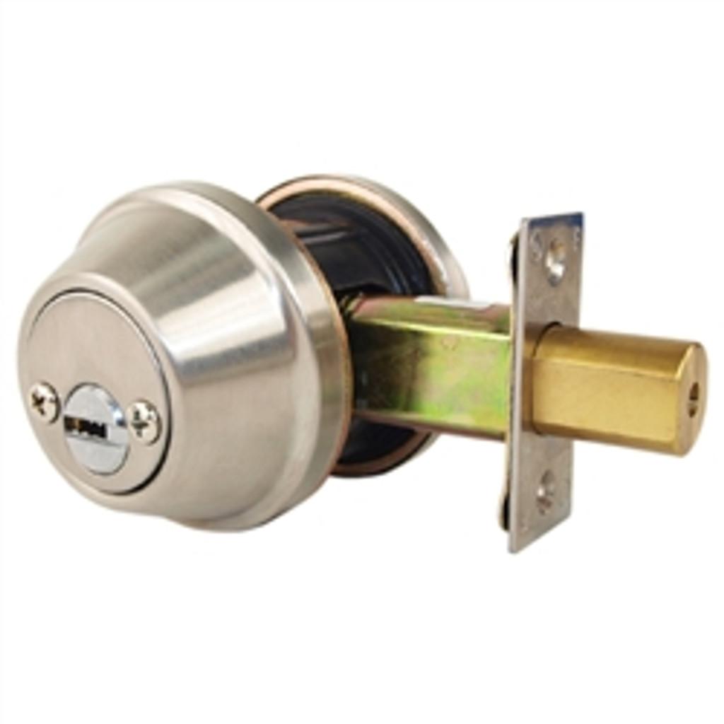 Mul-T-Lock Junior - Brushed Stainless Steel Finish Double Cylinder Cronus Deadbolt