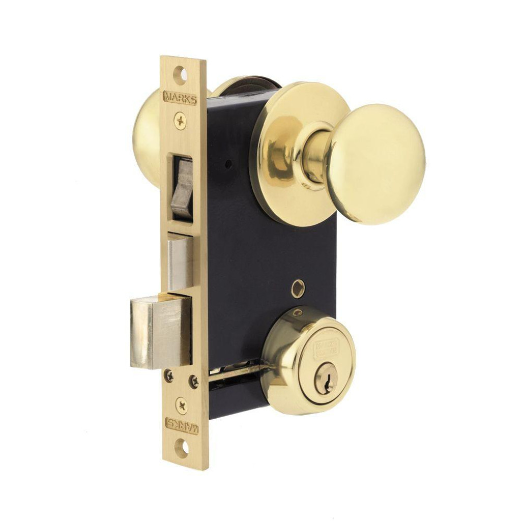 Marks Lock 22AC Ornamental Iron Mortise Lock