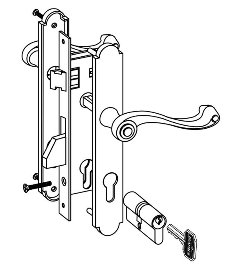 Marks - Thinline Mortise Lockset 2750 Series