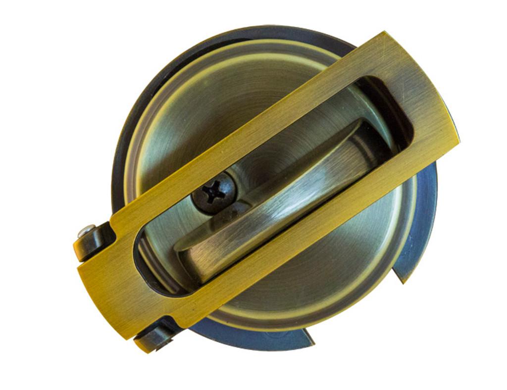 Ultimate Lock System - Flip Guard Deadbolt Security Antique Brass