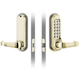 CodeLocks CL500 Series CL515BB Heavy Duty Tubular Mortise Latch with Back to Back and Code Free option