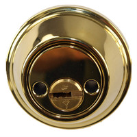 Mul-T-Lock Junior - Polished Shiny Brass Finish Double Cylinder Cronus Deadbolt
