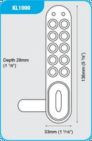 CodeLocks - KitLock KL1000 Horizontal Locker Lock