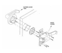 Marks USA Lever / Rose Trim MLHL650A - MLHL680F-26D MLHL600N-26Dfor Marks M9900 Exit Device