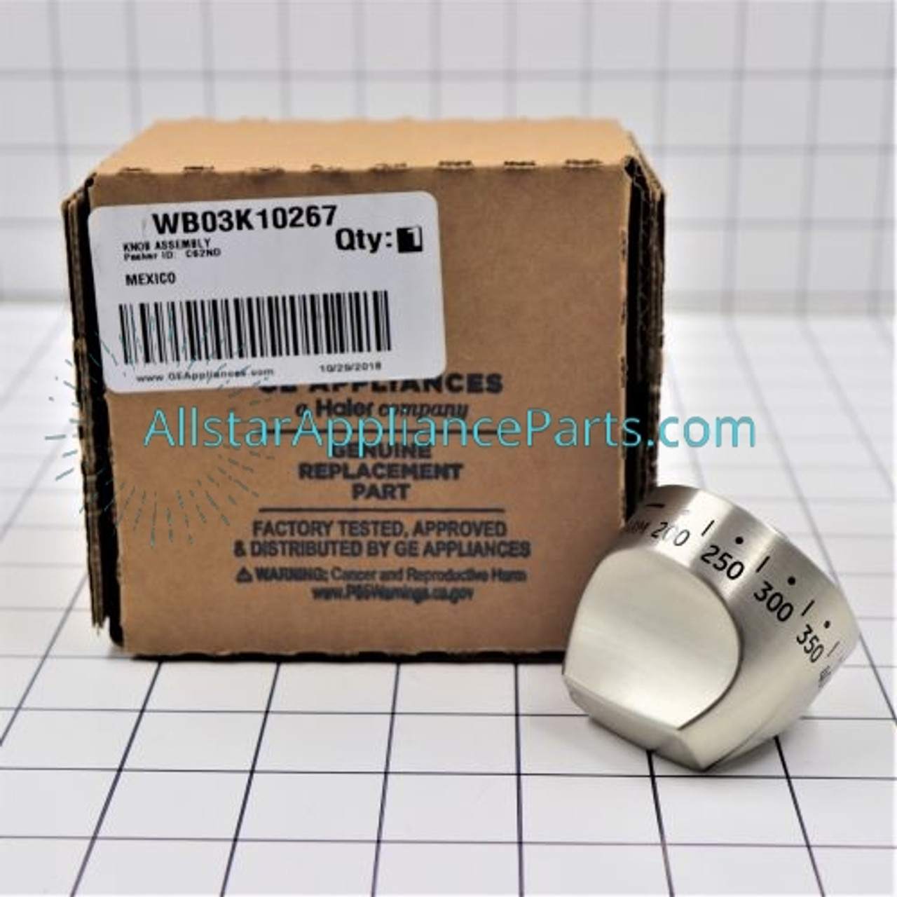 Replacement Control Knob Assembly for GE C2S980SEM1SS C2S980SEM6SS