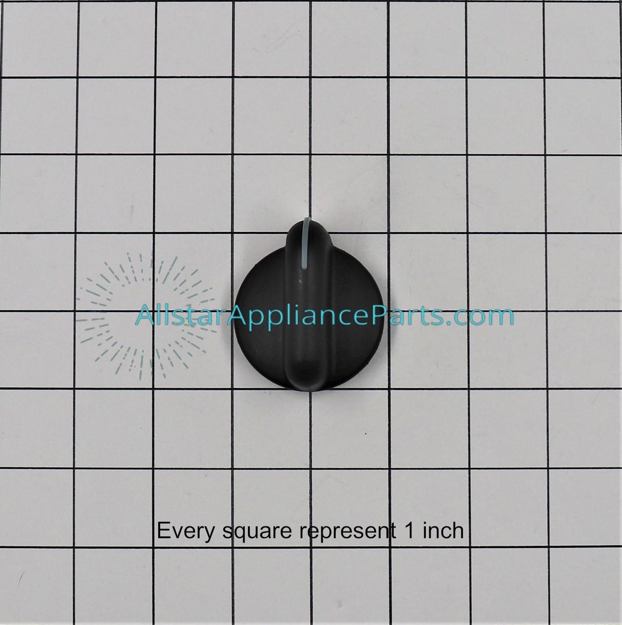 3191922 Whirlpool Cooktop Knob Gas Black OEM 3191922 4 Pack