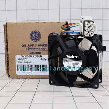 Part Number WR60X26866 replaces WR02X13733, WR60X24303, WR60X26030, WR60X26033