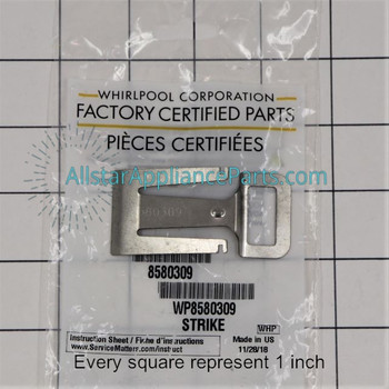 Part Number WP8580309 replaces 8269111, 8580309