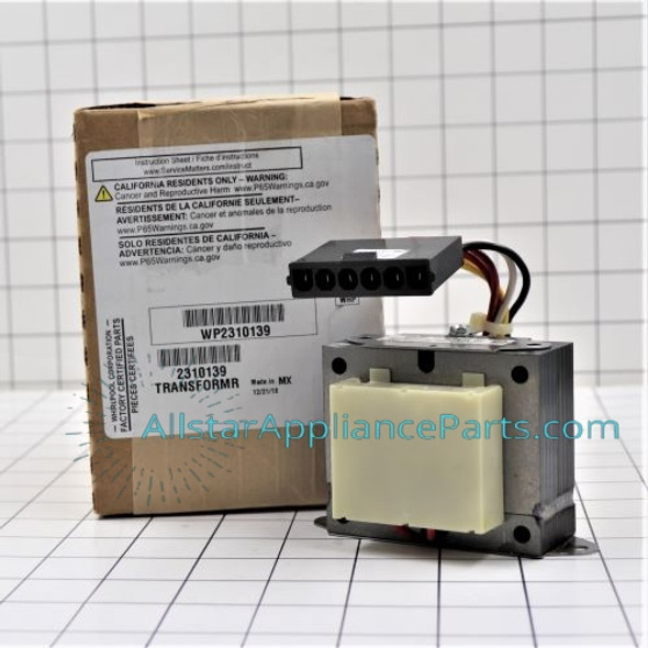 Part Number WP2310139 replaces 2310139