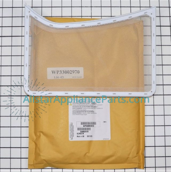 Part Number WP33002970 replaces 307108, 33001170, 33001171, 33002970, 33002970A, WP33002970VP, Y307107