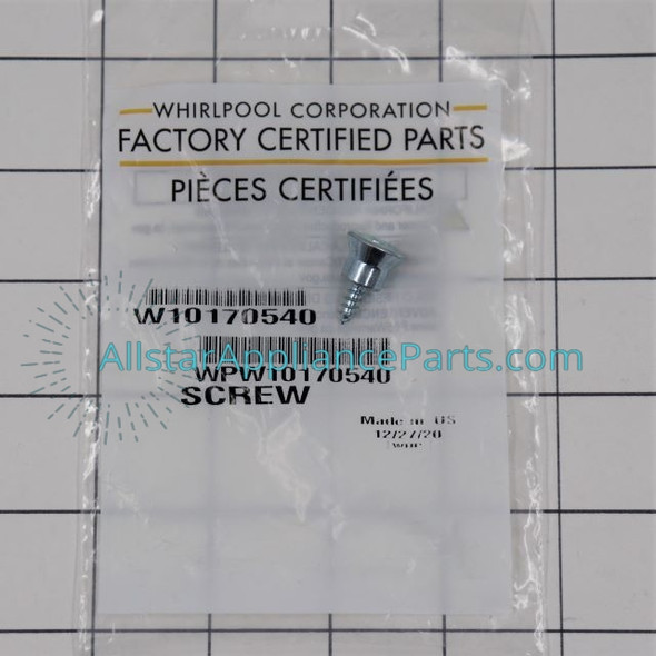 Part Number WPW10170540 replaces 2-82532-001, 2326259, W10170540