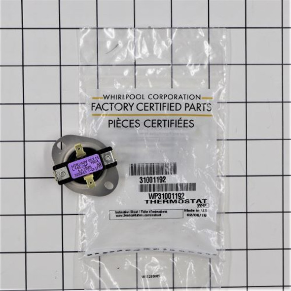 Part Number WP31001192 replaces 31001192